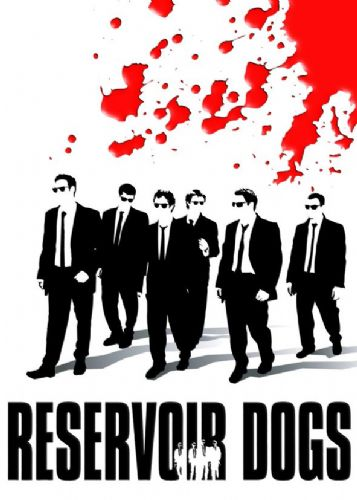 1990's Movie - RESERVOIR DOGS - BLOOD SPLAT WALK P1 / canvas print - self adhesive poster - photo